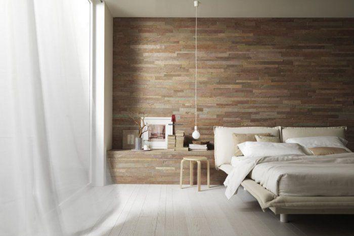 Naturalne materiały idealnie nadają się do sypialni.