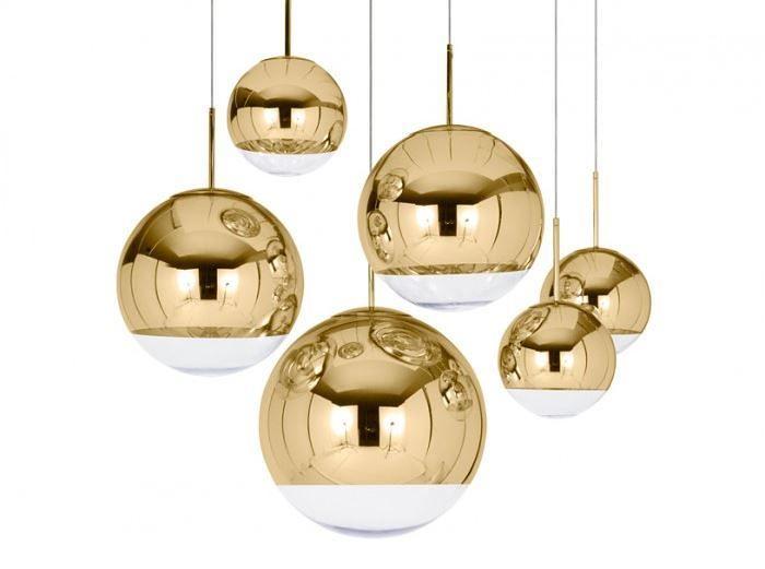Красивые золотистые светильники