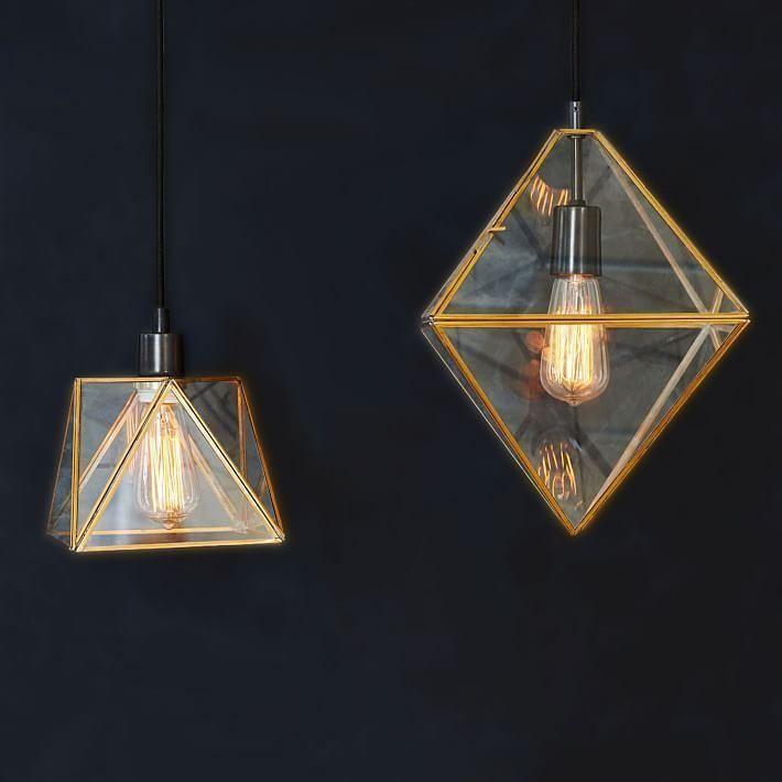 Светильники Prism с геометрическим плафоном