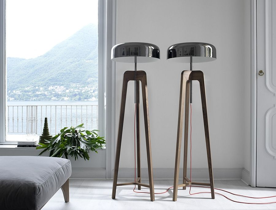 Уникальные напольные светильники в гостиной