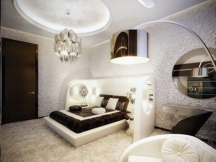 Мястото за спане е проектирано в най-добрите традиции на футуризма.
