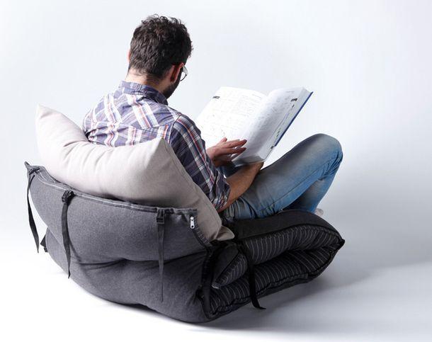 Функциональное кресло-матрас - вид сзади