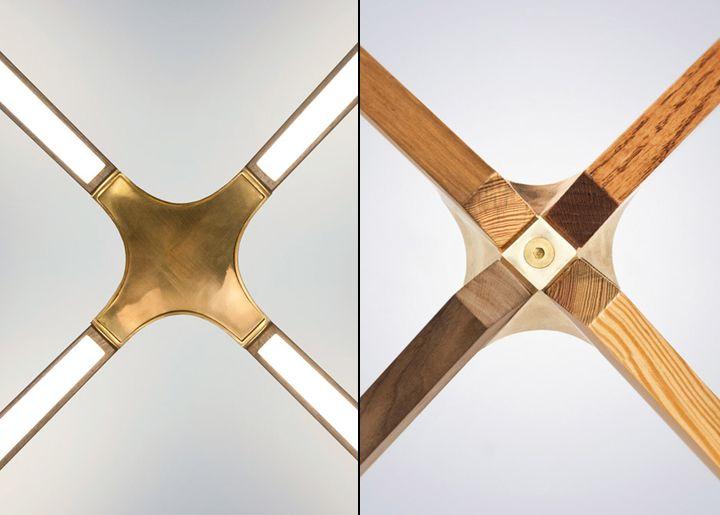 Деревянный каркас предмета мебели из коллекции X от Rux