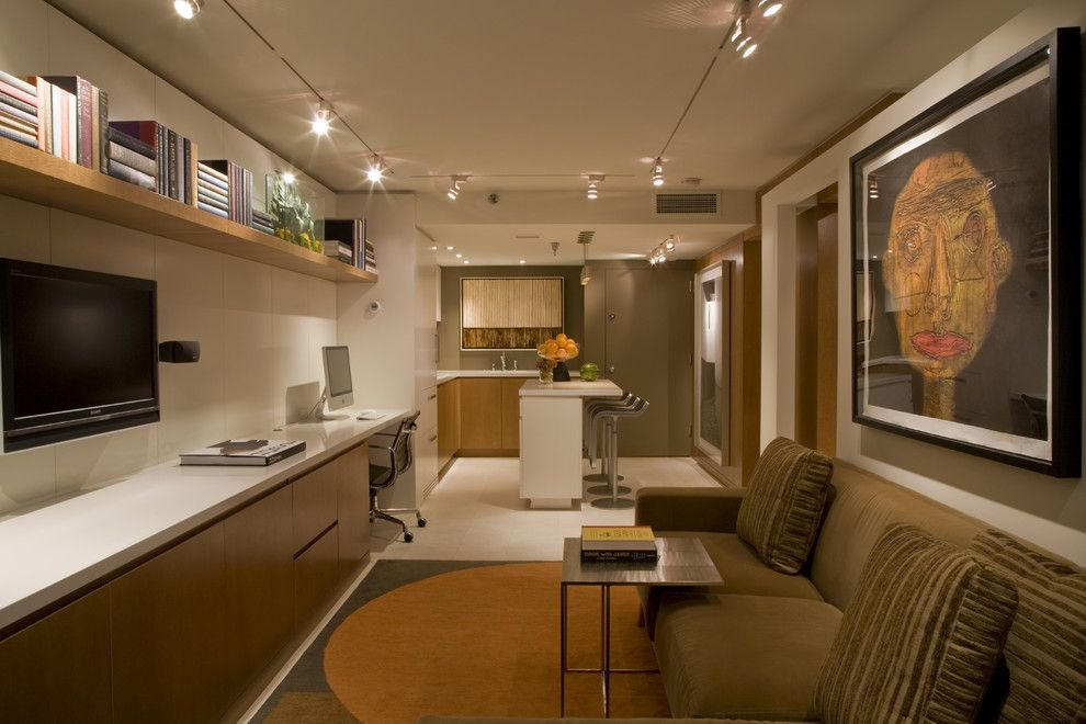 Потолочные светильники в интерьере комнаты для отдыха