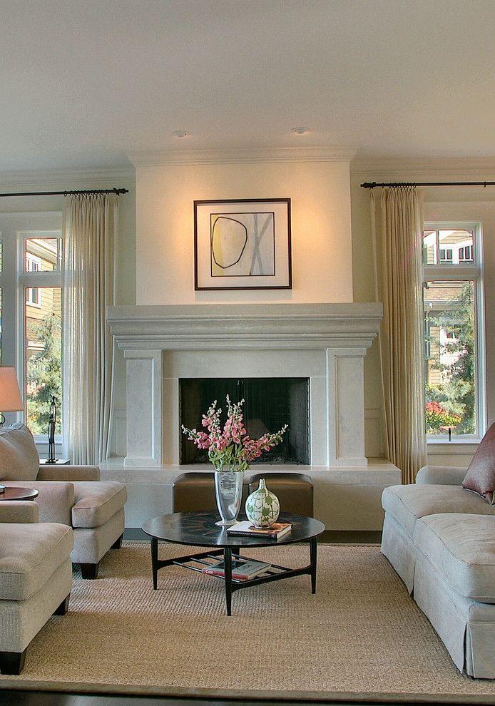 Потолочные светильники в интерьере гостиной