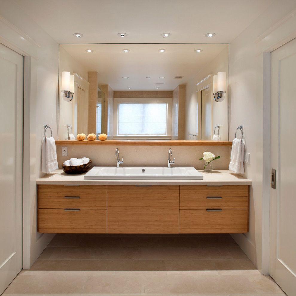 Потолочные светильники в интерьере ванной