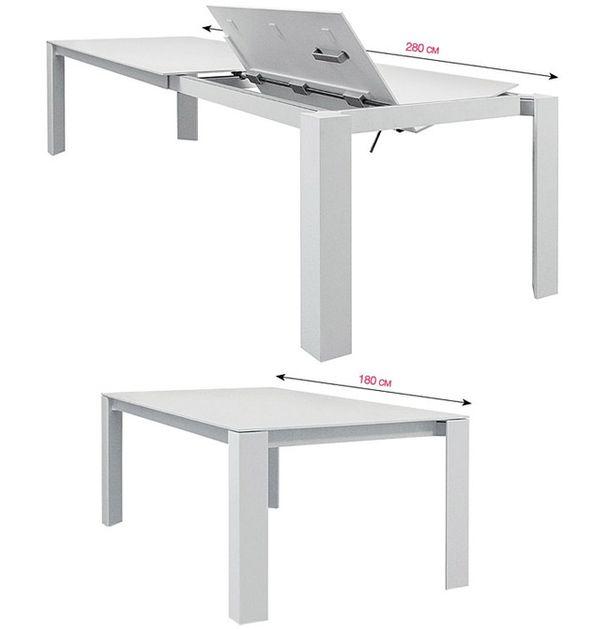 Бяла лакирана маса