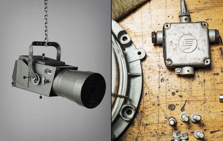 Подвесной светильник в виде видеокамеры из коллекции Vintage Industrial от Matt Szaplonczai