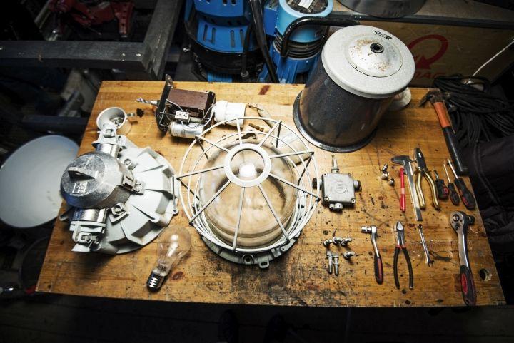 Детали лампы Vintage Industrial от Matt Szaplonczai