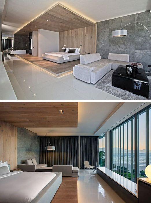 Najlepsza opcja projektowania sypialni ze wspaniałym widokiem.