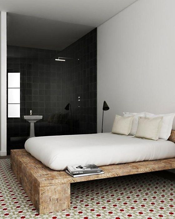 Простой вариант оформления интерьера спальной, что вдохновит своей легкостью.