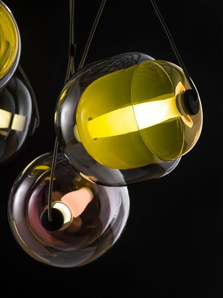 Стеклянный флакон для подвесного светильника Capsula от Lucie Koldova