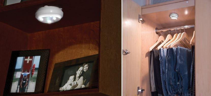 Дизайн гардеробной с организацией освещения Pegasus Lighting's LED