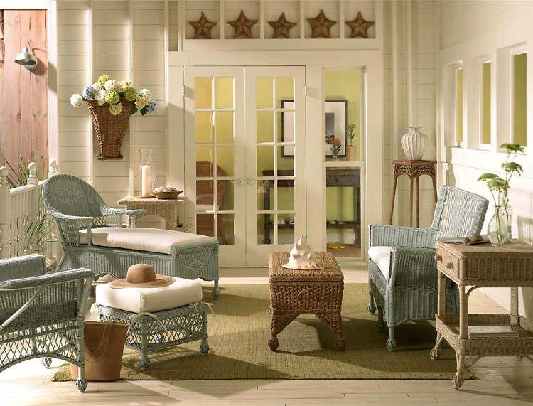 Плетени мебели във винтидж стил