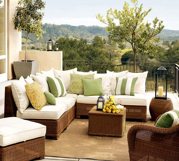Плетеный угловой диван