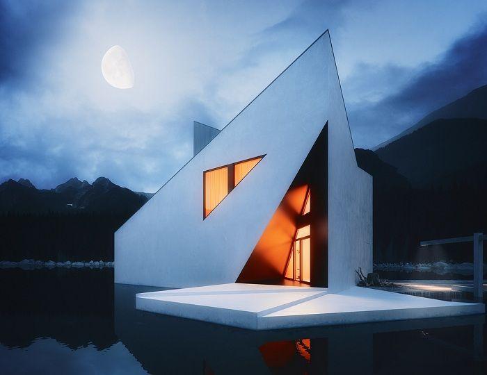 Crown House to dom o geometrycznych kształtach.