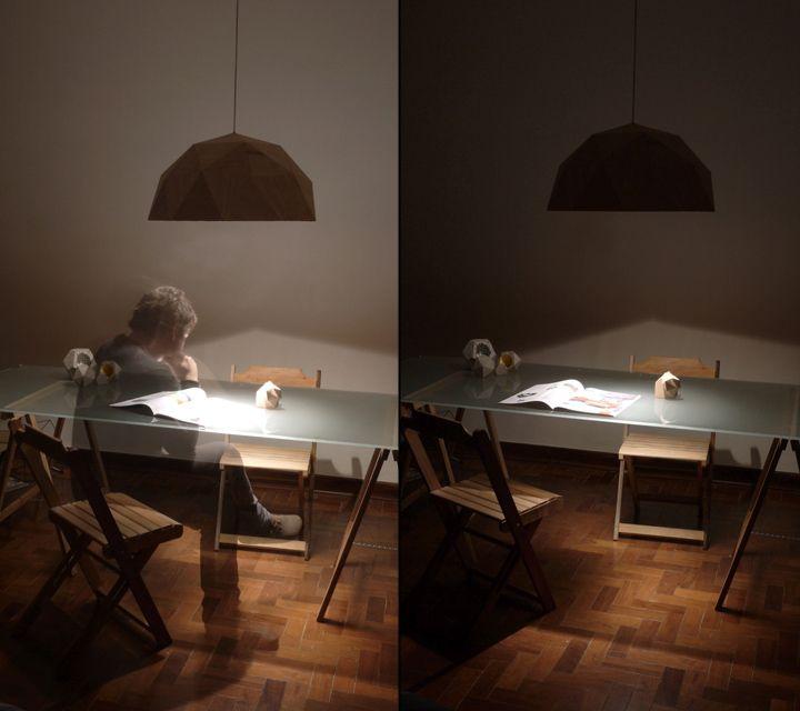 Процесс работы под светильником GeoLamp от Mezzo Atelier