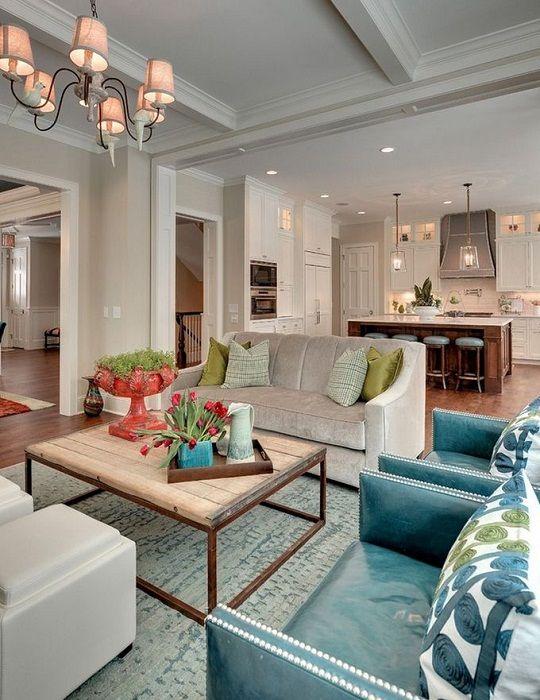 Готино решение за създаване на страхотна вътрешна среда чрез комбиниране на стаи, което създава уникален интериор.