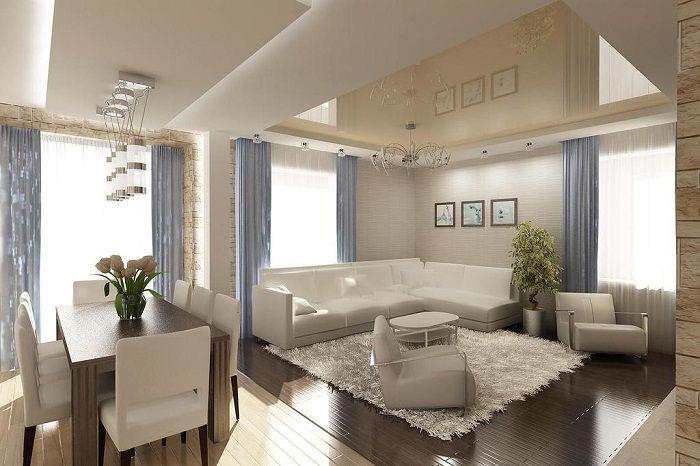 Хубав и успешен интериор е създаден благодарение на оригиналната комбинация от удобни и успешни пространства.