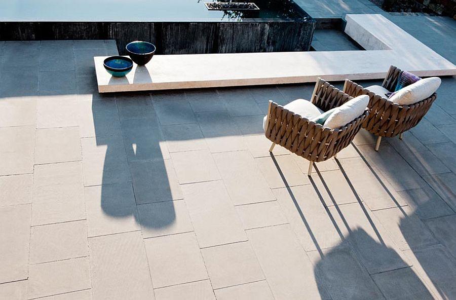 Fantastiske stoler på terrassen - topp utsikt