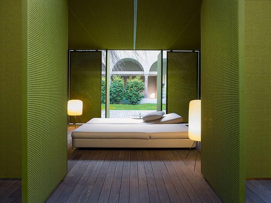 Прекрасно легло и лампи на терасата