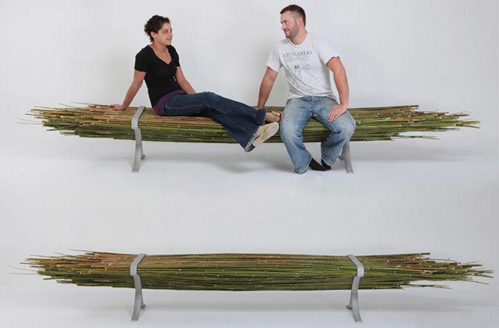 Креативная скамейка скамейка из бамбука без спинки