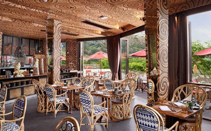 Еко курорт Кеемала. Ресторант.