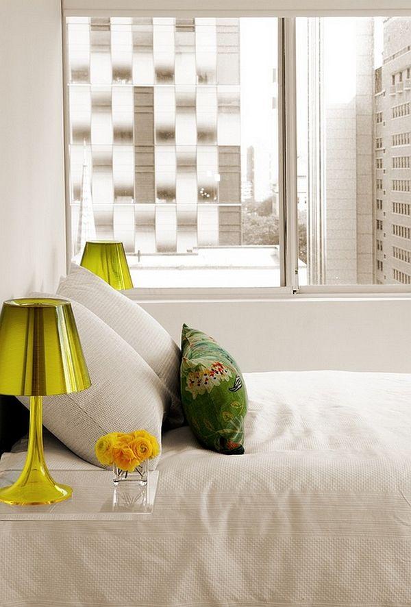 Красивые настольные лампы в дизайне интерьера