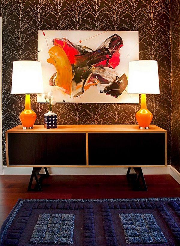 Удивительные настольные лампы в дизайне интерьера