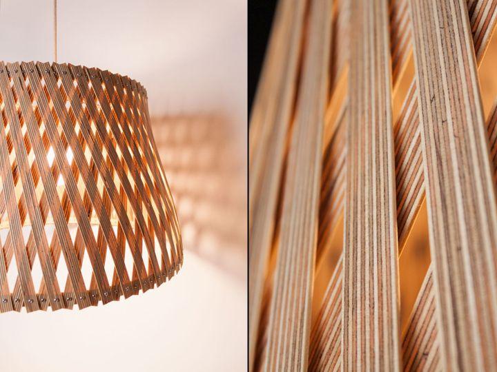 Уникальный плетенный светильник Upcycle от Benjamin Spoth