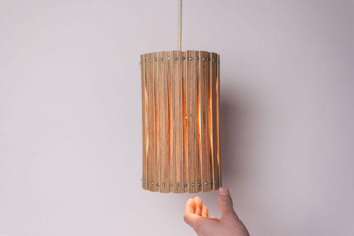Классный плетенный светильник Upcycle от Benjamin Spoth