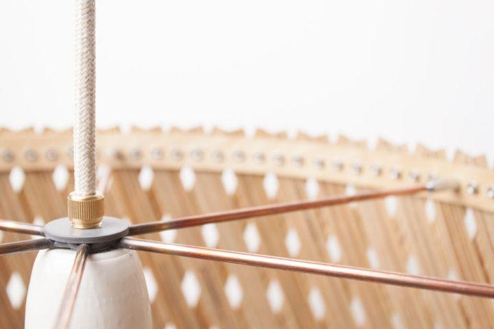 Металлическая основа светильника Upcycle от Benjamin Spoth