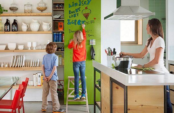 Рисуване в детската стая: плоча от шисти, мольберт и маркерно покритие
