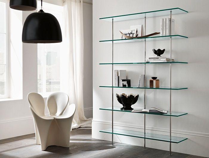 Современное мебельное решение из стекла.