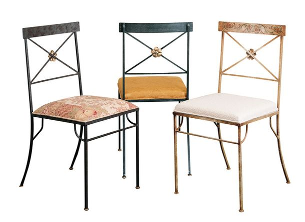 Позлатени метални столове