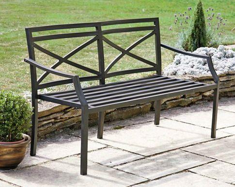 Металлическая скамейка для сада