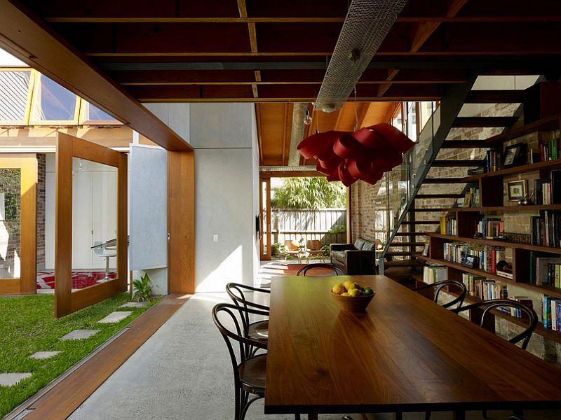 Herlig skulpturell pendellampe for spisestue i stuen