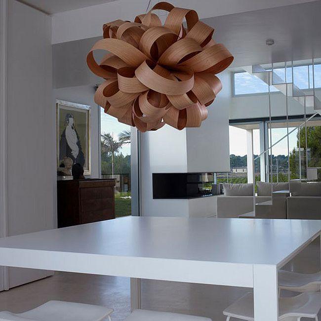 Непревзойденный скульптурный подвесной светильник шоколадного цвета