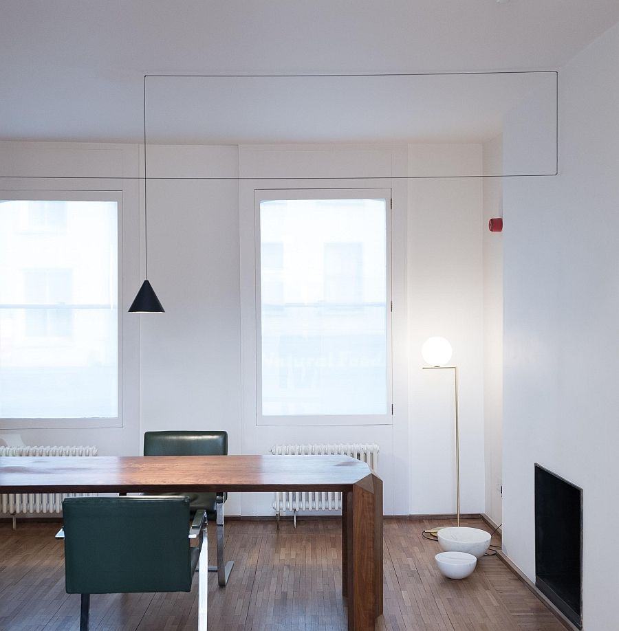 Подвесной светильник в кабинете