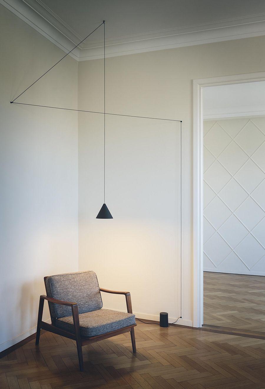 Подвесной светильник в интерьере