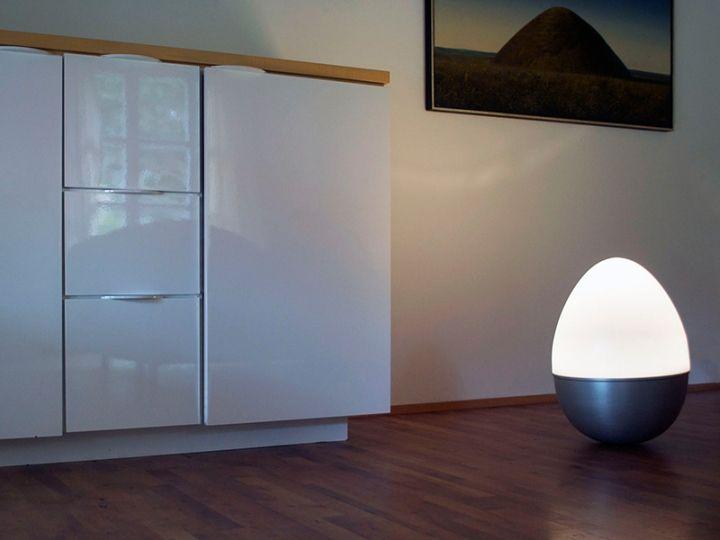 Isabel Heubl's Unique Tumbler Egg Lamp