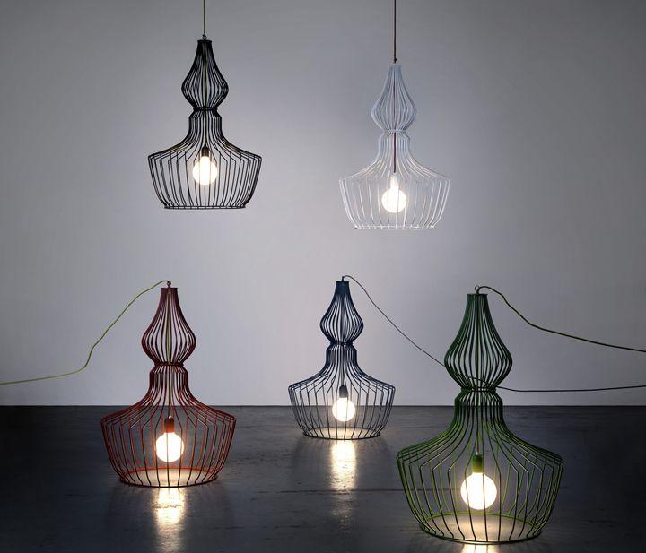 Лампы могут быть и подвесными и напольными