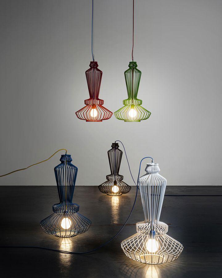 Многоярусная удлиненная форма лампы