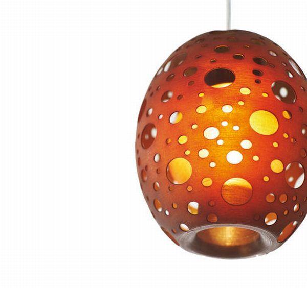 Невероятна висяща перфорирана лампа