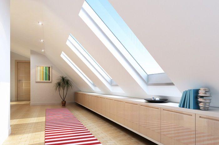 Красивое оформление пространства под чердаком добавит полезной площади дому.