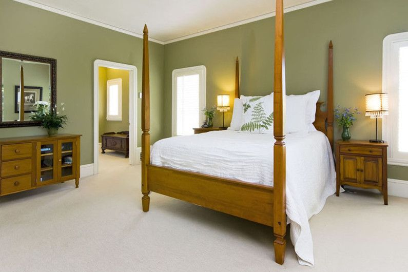 Makuuhuone vihreä