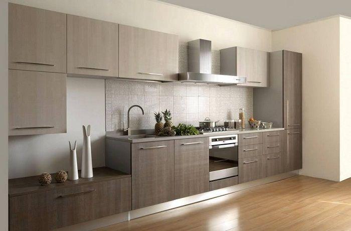Вариант за създаване на кухненски интериор в сдържани, пастелни цветове.