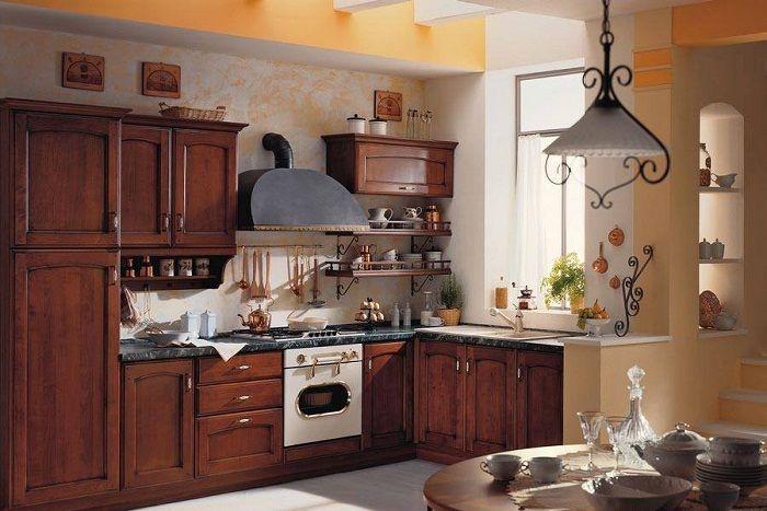 Интересный интерьер кухни, что выглядит потрясающе.