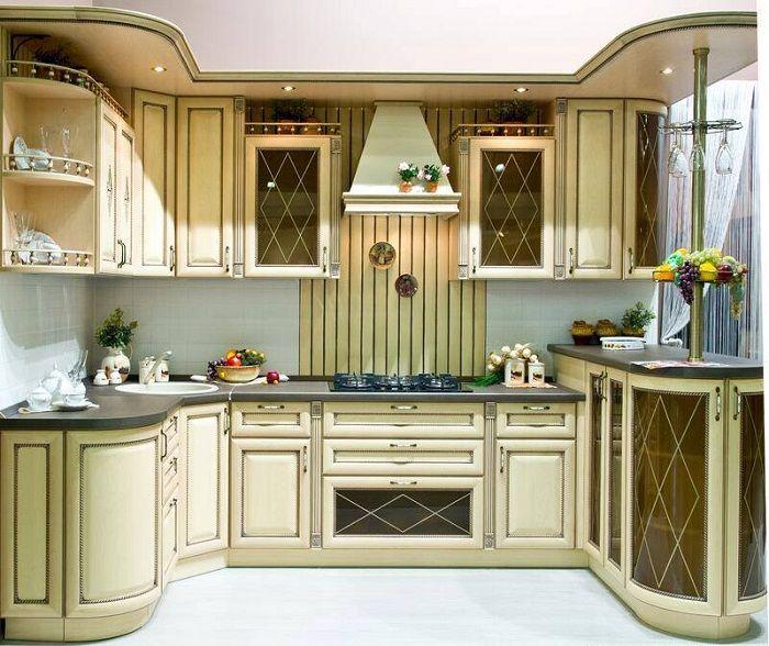 Готино решение за създаване на такава оригинална модерна кухня в светли цветове.