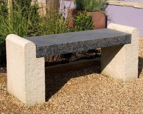 Классическая скамья из камня